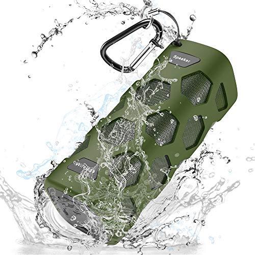 Bluetooth Lautsprecher Wasserdicht, Donerton Portable Bluetooth Speaker, 24h Spielzeit und 20W Dual-Treiber Outdoor Tragbarer Lautsprecher mit 5200 mAh Power Bank und Ingebauten Mikrofons Wireless Power-box