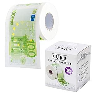 EURO Geldschein Toilettenpapier Klopapierrolle 100.- EUR Geldschein Design Lustiges Fun Klopapier