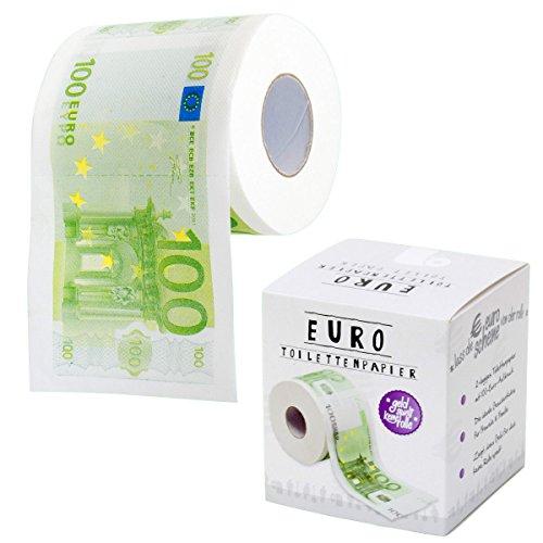 Goods & Gadgets Rouleau de papier toilettes aux motifs de billets de 100 euro