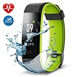 Navtour Fitness Armband Fitness Tracker, Buntes Bildschirm Fitness Tracker,Aktivitätstracker mit Pulsmesser,IP67 Wasserdichtes Schrittzähler mit Alarm / Kalorien / Schlafüberwachung, für Android und iOS