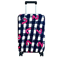 Luggage Cover, Anti-Scratch Dust Proof Suitcase Cover Elastic Seersucker Print Luggage Protector