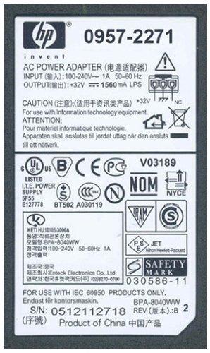 HP 0957-2271 - Cargador (100-240 V, 50 W, 1.56 A), negro