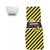 YaYa Cafe Gifts For Women, Dangerous She Is Cooking Funny Kitchen Chef Apron For Women With Chef Hat, Birthday Anniversary Gifts For Wife Girlfriend