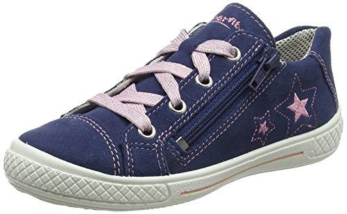 Superfit Mädchen Tensy Sneaker, Blau (Water Multi), 33 EU