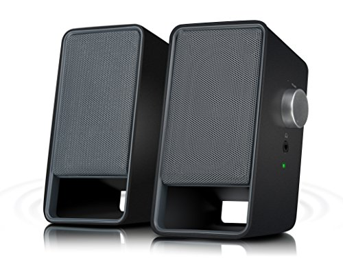 Speedlink Viora Aktiver-Lautsprecher (5 Watt RMS Ausgangsleistung, stufenloser Lautstärkeregler, 3,5mm-Anschluss, USB-Stromversorgung)