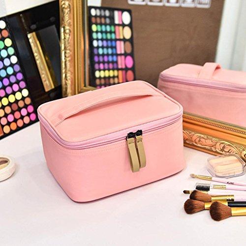 Voyage de stockage cosmétique sac petit portable mini grande capacité imperméable à l'eau de stockage cosmétique sac cosmétique sac à main , pink 11