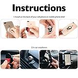 Auto Handyhalterung, Foraco Universal KFZ Magnet Handy Halter mit Ringhalter für Navi Smartphone iPhone 7 6 5 usw., Schwarz - 4