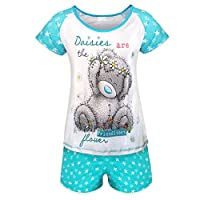 Tatty Teddy Official Gift Ladies Sleep Set Short Pyjamas Blue Size 8-10