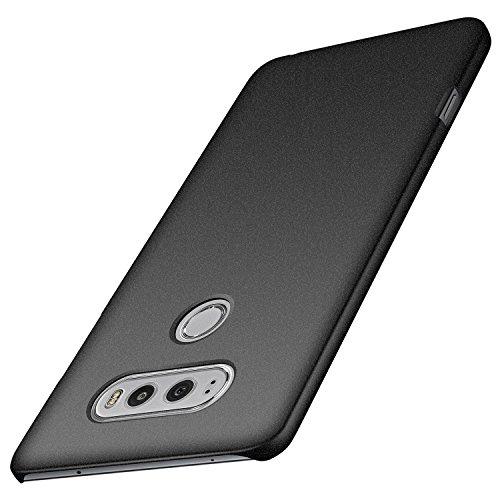 anccer LG V20 Hülle, [Serie Matte] Elastische Schockabsorption und Ultra Thin Design (Kies Schwarz)