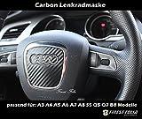 Audi Lenkrad Airbag Carbon Folie Lenkradmaske A3 A4 A5 B8 S5 A6 A7 A8 Q5 Q7 S4