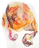 NB24 Versand Damenschal (558) Damenmode Sommerschal Sommertuch Seidenschal doppellagig, vielfarbig, Damenbekleidung, Damenschal, Tuch