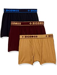 Dollar Bigboss Men's Cotton Boxers (Pack of 3) (Colors May Vary)