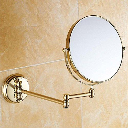 """Antike/Golden 8"""" Double Side 1:1 und 1:3 Lupe Kupfer Spiegel Double konfrontiert Bad Kosmetikspiegel Wand Spiegel Bad-Accessoires , 1"""