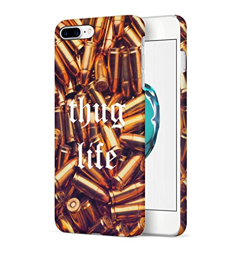 Maceste Thug Life Golden Bullets Kompatibel mit iPhone 7 Plus/iPhone 8 Plus SnapOn Hard Plastic Phone Protective Fall Handy Hülle Case Cover