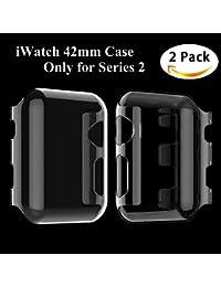 Apple Watch Series 2 Funda, Feskin [2 Pack] Carcasa Apple Watch Case con caratteristica dei Protector de pantalla para iWatch Series 2 42mm (PC Clear)