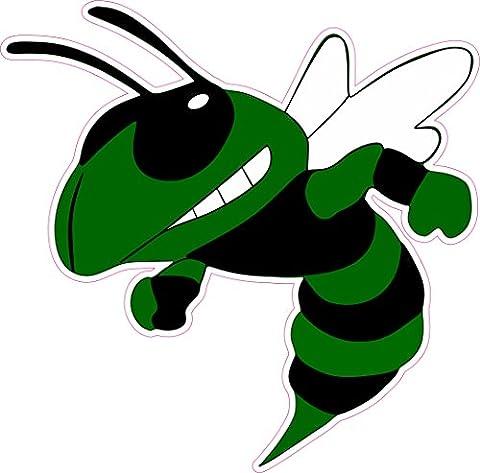 17,8x 17,8cm gauche Face Vert foncé Hornet Angry Birds Jaune pour Femme Bumper Sticker fenêtre autocollants