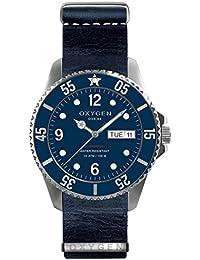 University Sports Press EX-D-ADM-44-NL-NA - Reloj de cuarzo unisex, correa de cuero color azul