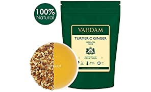 VAHDAM, Turmeric Ginger Herbal Tea Tisane (100 Cups), 100gm (Set of 2),India's Original Detox Tea, Abundant in Anti-OXIDANTS & NUTRIENTS - Healing, Rejuvenating & Energizing, Grown & Packed in India