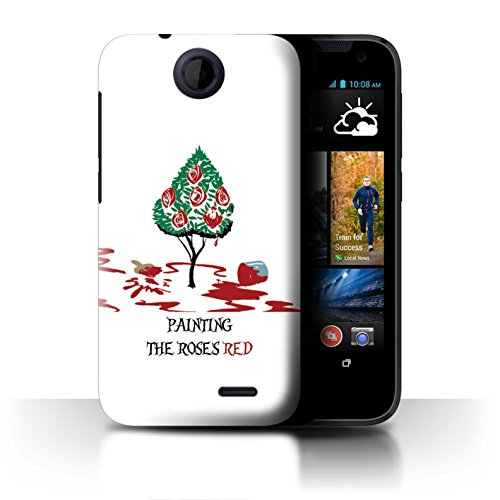 Stuff4 Coque pour HTC Desire 310 Fantaisie Pays Merveilles Art Reine des Cœurs/Peinture Désign Transparent Etui Housse Case Rigide Ultra Mince
