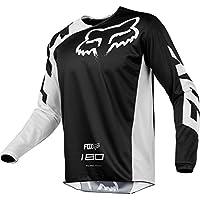 Fox Camiseta motociclismo modelo 180Race, color negro, talla L