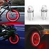 About1988 2 stücke LED Wasserdichte Reifen Ventilkappen Neonlicht Auto Zubehör Fahrradlicht Auto, geeignet für Fahrrad, Auto, Motorrad oder LKW (A)