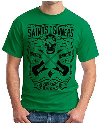 OM3 - SAINTS-and-SINNERS-II - T-Shirt GEEK, S - 5XL Grün