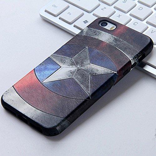 UKDANDANWEI Apple iPhone 5S Hülle - TPU 3D Silikon Schutzhülle Handyhülle kratzfeste stoßdämpfende Case für Apple iPhone SE/5/5S [CCD002] CCD010