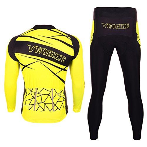 9d010af2367b1 Asvert Ropa de Bicicleta Hombre MTB Traje de Ciclismo Mangas Largas Maillot+ Pantalones.
