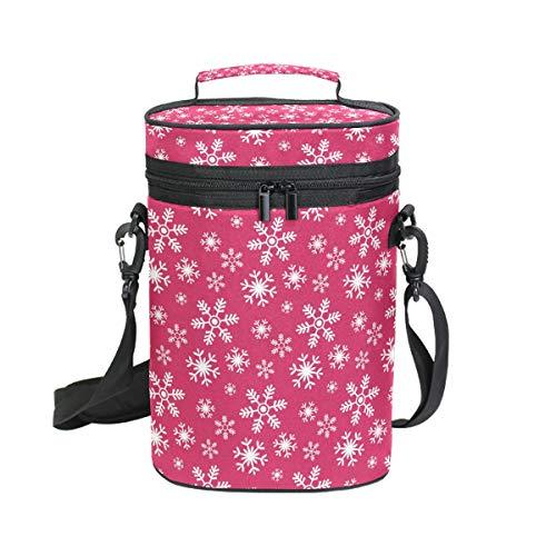DEZIRO Picknick-Weinkühltasche, hübsche Neuheit Rose Rot Hintergrund inkl. Wein-/Wasserflaschentasche, 2 Stück