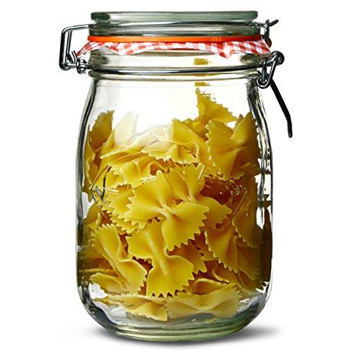 Kilner 1 Litre Genuine Clip Top Jar (Pack of 12)