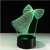 Veilleuse Led Led Pour Enfants Touch Usb 3D 7 Couleur Lampe Cloche Table Bébé Veilleuse Veilleuse De Noël Deco Cadeau