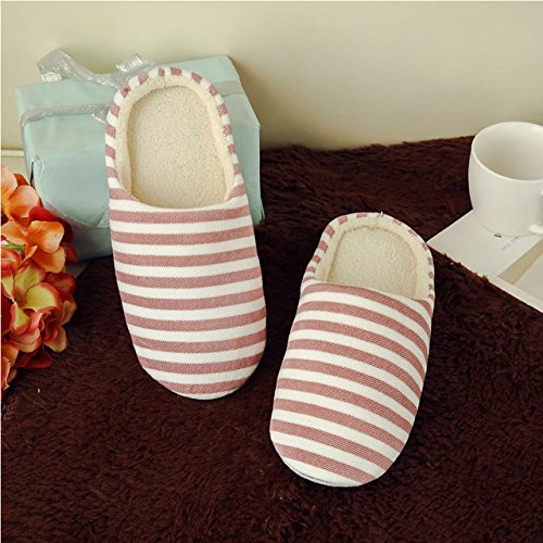 LEPAKSHI Red, 7.5 : 2017 Indoor House Slipper Soft Plush Cotton Cute Slippers Shoes Non-Slip Floor ,Indoor House ,Home Furry Slippers Women Sh WS337