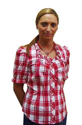 Damen Trachtenbluse rot weiß kariert Esther Spieth & Wensky Gr.40