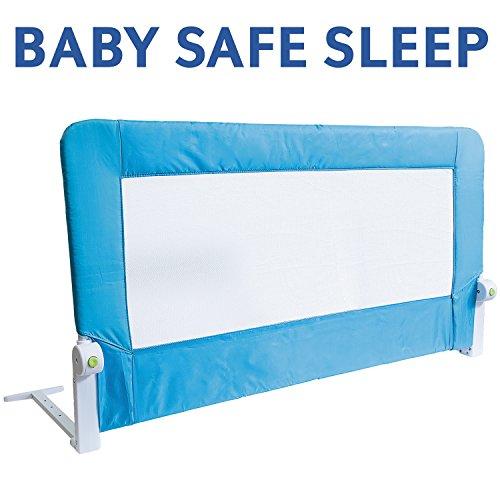 tatkraft-guard-barriera-letto-pieghevole-baby-safe-bed-rail-acciaio-poliestere-plastica-120x47x65cm