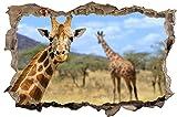 Giraffe Afrika Savanne TIer Wandtattoo Wandsticker Wandaufkleber D0286 Größe 70 cm x 110 cm