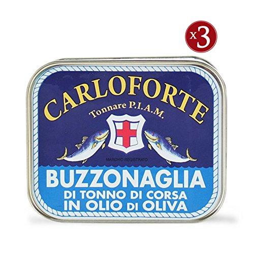 Buzzonaglia di tonno di corsa in olio di oliva, 350 gr [3 CONFEZIONI]