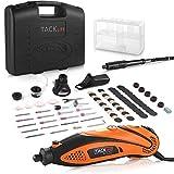 Multifunktionswerkzeug, Tacklife RTD35ACL Advanced Drehwerkzeug mit 80 Zubehör und 4 Aufsätze zum beliebten Allrounder für Hand- und Heimwerker, Inkl. Schutzhaube