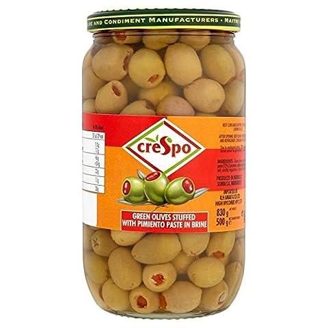 Crespo Gefüllte Grüne Oliven Mit Piment Paste In Salzlake 830G