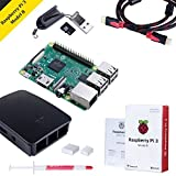 Raspberry Pi 3 Kit Modello B Quad-Core 1.2 GHz 1GB RAM con Accessori come regalo (Custodia Nera, Alimentatore, Dissipatore di Calore, MicroSD da 32 GB, Cavo HDMI)