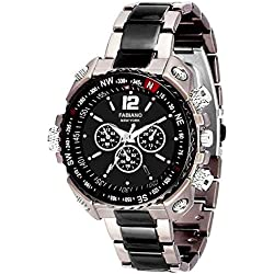 Fabiano New York Mens & Boys Black,Grey Analogue Watch