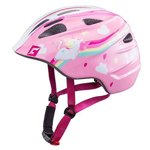 Cratoni Akino Helmet Kinder Einhorn pink Glanz Kopfumfang S | 49-53cm 2019 Fahrradhelm