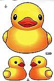 Gelbes Entchen Ente Quietscheente Aufkleber Folie 1 Blatt 270 mm x 180 mm wetterfest