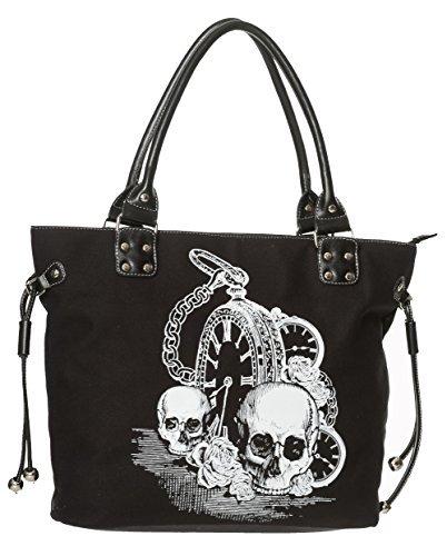 banned-apparel-espalda-en-negro-calavera-clock-gotico-rockabilly-mujer-bolso