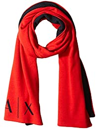 Armani Exchange Men's Knitted Logo Scarf