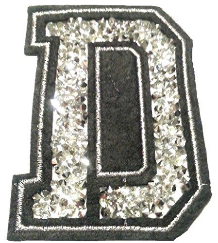 Bügel Iron on Buchstaben Aufnäher Patches für Jacken Cap Hosen Jeans Kleidung Stoff Kleider Bügelbilder Sticker Applikation Aufbügler zum aufbügeln D CA 8-10 cm (Ein Buchstaben-patches)
