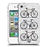 Head Case Designs Printed Fast Retro Bikes Soft Gel Hülle für Apple iPhone 4 / 4S
