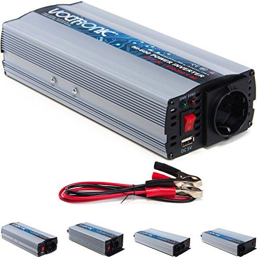 Preisvergleich Produktbild VOLTRONIC modifizierter Sinus Spannungswandler 24V auf 230V, Stromwandler in 4 Varianten: 600 – 2000 Watt, Wechselrichter mit e8 Norm