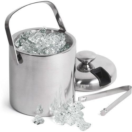 Drinkstuff Bar - Cubo para el hielo (acero inoxidable, aislamiento de
