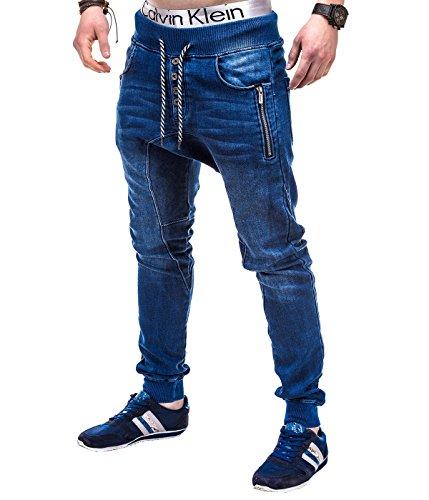 BetterStylz Melstone Jogginghose in Jeans-Look Jeansoptik Sweathose Sweatpants Jogger Dark Used Washed (S)