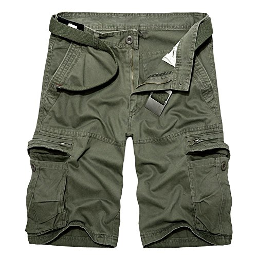 Sunshey Cotton Casual Mens Twill Cargo Shorts Pants Summer Fashion Sports Beach Travel Pockets Camouflage Shorts